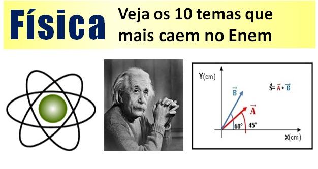 Veja os 10 temas de física que mais caem no Enem