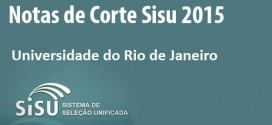 UNIRIO – Notas de Corte Sisu 2015 na Universidade do Rio de Janeiro. Todos os cursos