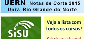 UERN – Notas de Corte Sisu 2015 na Universidade do Estado do Rio Grande do Norte – Todos os cursos.