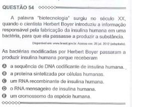 biologia enem 2015 questão 54