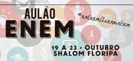 Aulão gratuito para o Enem acontece em Florianópolis