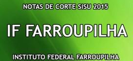 IF Farroupilha – Notas de Corte Sisu 2015 no Instituto Federal Farroupilha