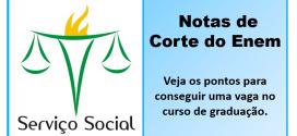 Serviço Social – Notas de Corte do Enem nas vagas do Sisu 2015. Veja!