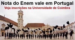 nota do Enem vale em Portugal - Universidade de Coimbra