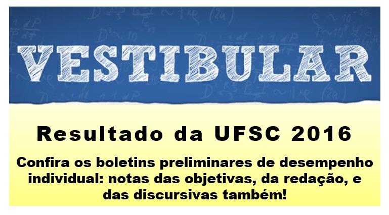 vestibular 2016 UFSC