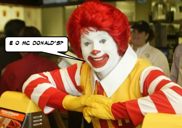 McDonald's é McDonald + Apóstrofo + s