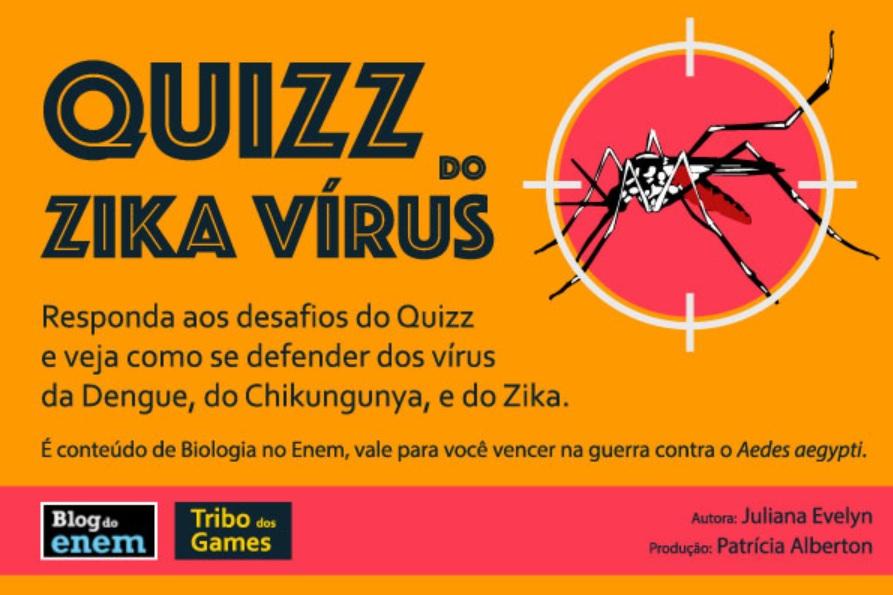 Tire suas dúvidas e se prepare para a Guerra aqui no Quizz do Zika vírus.