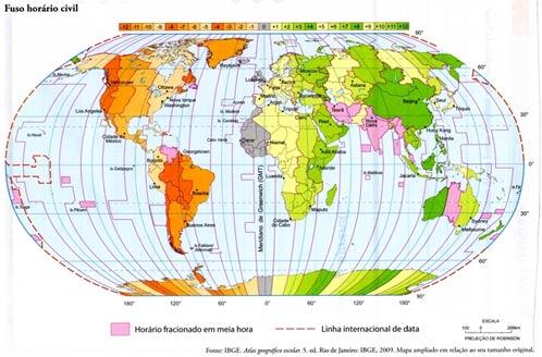 Hora legal e Fusos Horários
