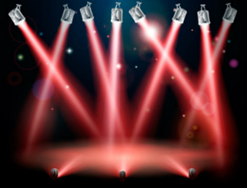 Luzes de um show