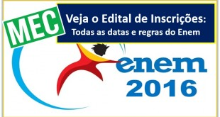 edital do Enem 2016 des