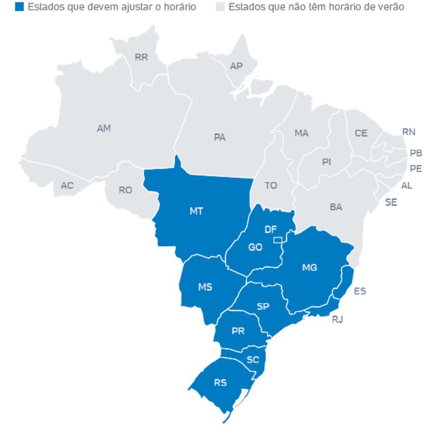 cb08eebe655 Horário de Verão e os Quatro Fusos Horários do Brasil - Geografia Enem