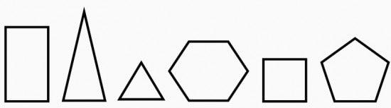 Exemplos de polígonos