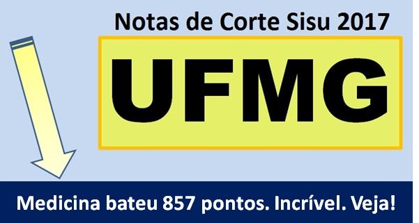 notas de corte sisu na UFMG