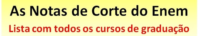 As notas de corte do Enem