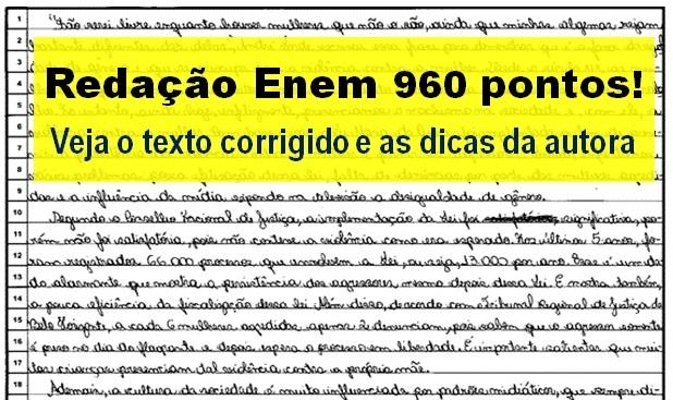 redação Enem 960 pontos