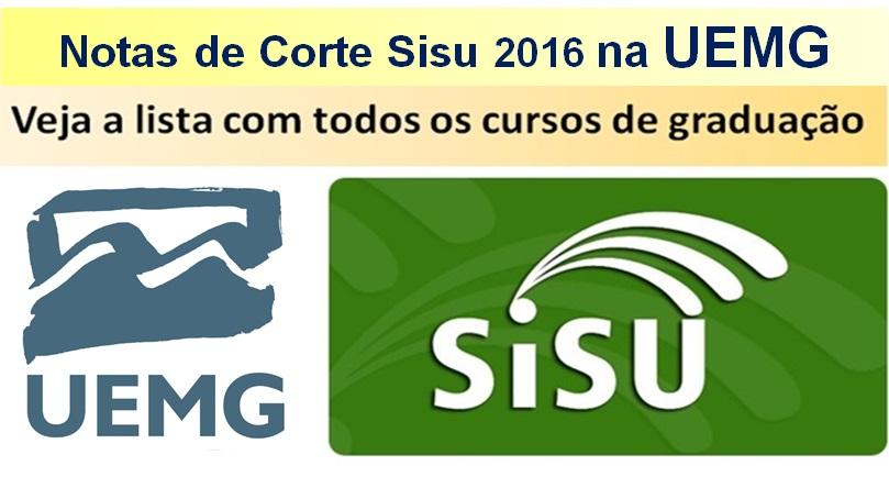 uemg notas de corte Sisu 2016