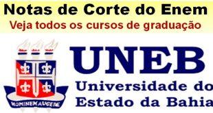UNEB notas de corte Sisu