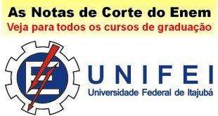notas de corte do Enem na UNIFEI