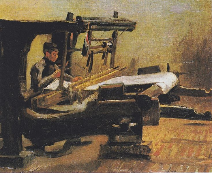 Tear/ Imagem: Vincent van Gogh / Weaver at the loom / Private Collection / Public Domain