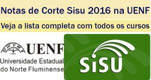 notas de corte sisu 2016 na uenf