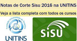 notas de corte sisu 2016 na unitins