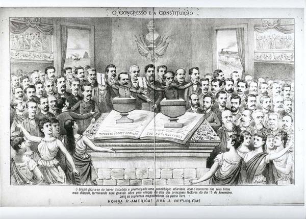 Ilustração representando a Assembleia Constituinte de 1891 - república velha