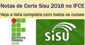 notas de corte sisu 2016 no ifce