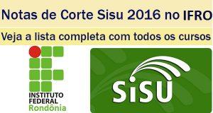 notas de corte sisu 2016 no ifro