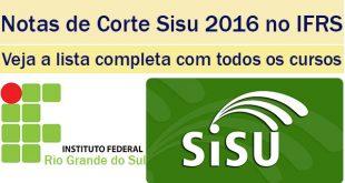 notas de corte sisu 2016 no ifrs