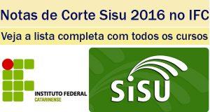 notas de corte sisu 2016 no ifc