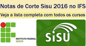 notas de corte sisu 2016 no ifs