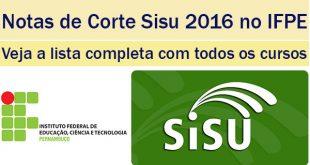 notas de corte sisu 2016 no ifpe