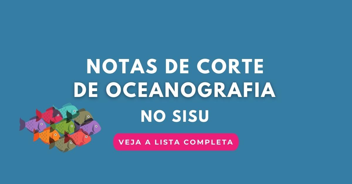 Notas de corte de Oceanografia
