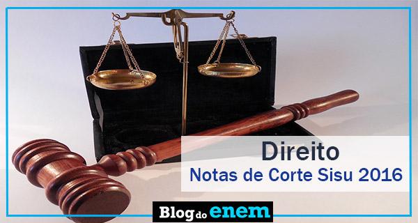 notas de corte sisu 2016 para direito