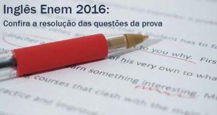 Inglês Enem 2016