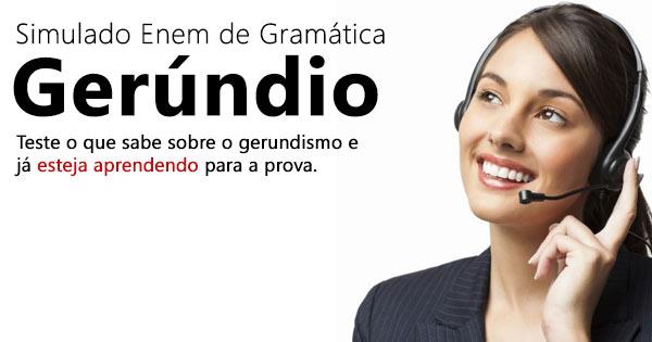 Gerúndio - Gramática Enem