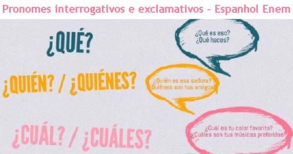 pronomes interrogativos e exclamativos