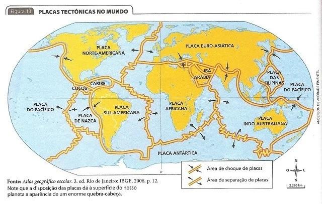 placas tectônicas - litosfera