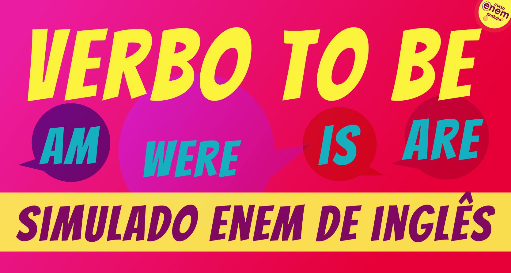 simulado verbo to be