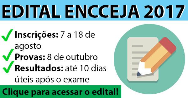 Edital do Encceja 2017
