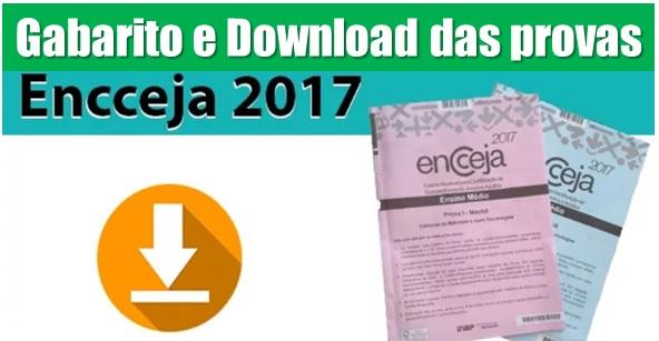 Gabarito Encceja 2017