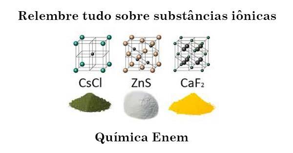 substâncias iônicas