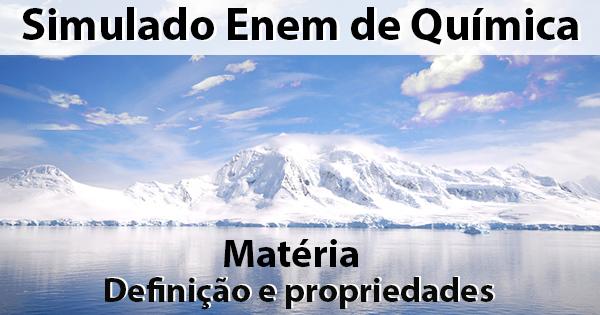 definição e propriedades da matéria
