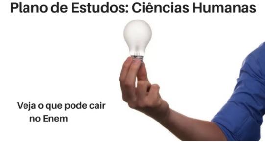 Plano de Estudos de Ciências Humanas