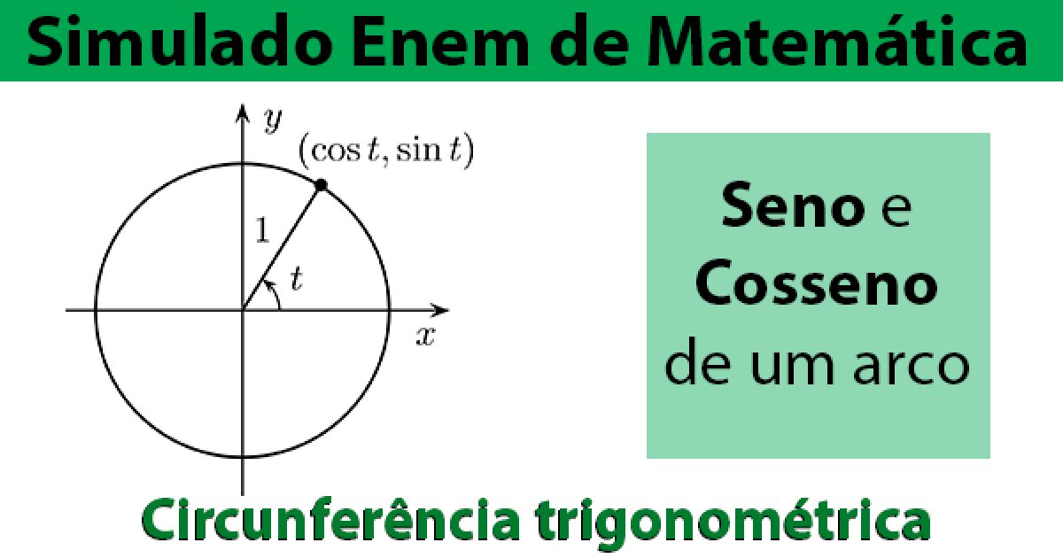 Circunferencia Trigonometrica Simulado Enem Online De Matematica