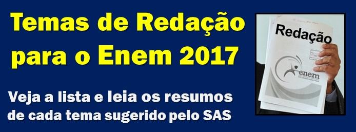 Tema de Redação Enem 2017