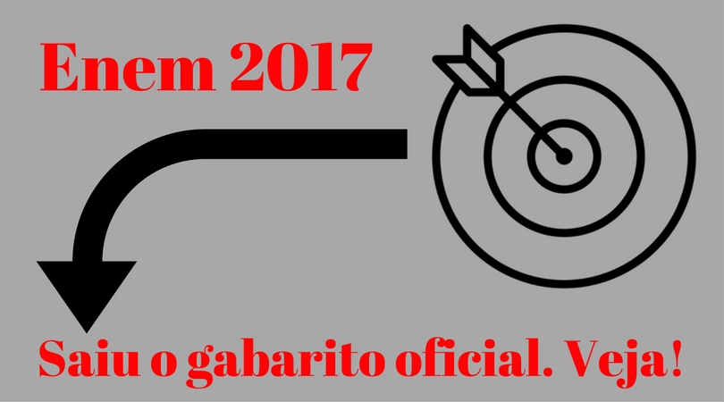 Gabarito Oficial do Enem 2017