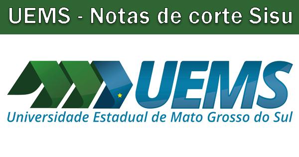 Notas de corte Sisu 2019 na UEMS
