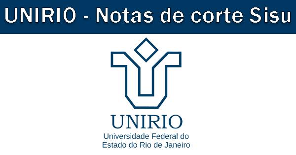 Notas de corte Sisu 2018 na UNIRIO