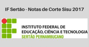 Notas de Corte do Enem no IF Sertão